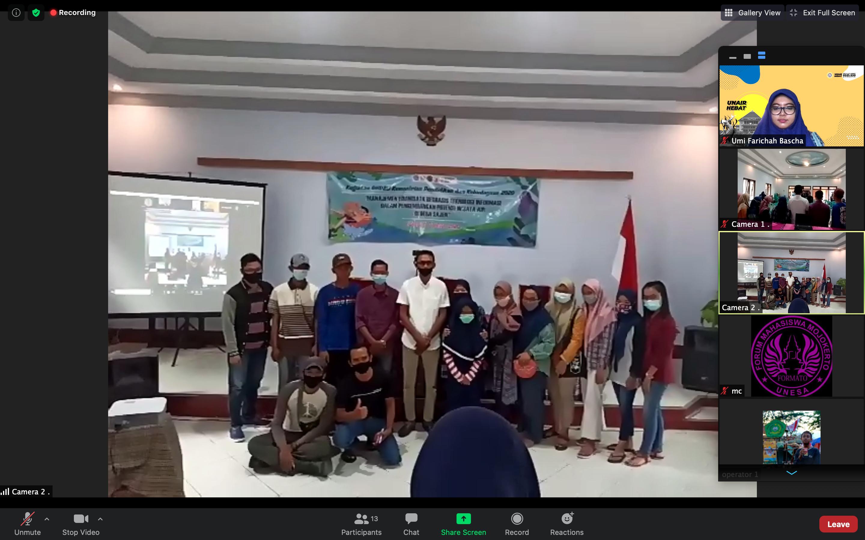 Dosen Vokasi Universitas Airlangga menjadi Pembicara pada Talkshow Pembekalan Pemberdayaan Desa Wisata