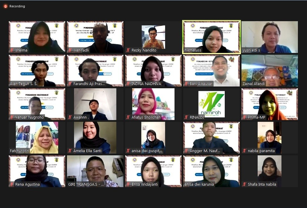 D3 Akuntansi Gelar Pengabdian Masyarakat Secara Daring