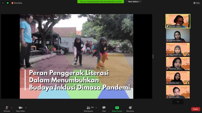 Webinar Sahabat Literasi : Tingkatkan Literasi  untuk Indonesia Lebih Baik