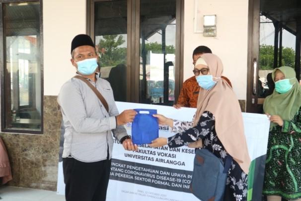 Kegiatan Pengabdian Kepada Masyarakat Prodi D3 K3 Universitas Airlangga di Tengah Pandemi
