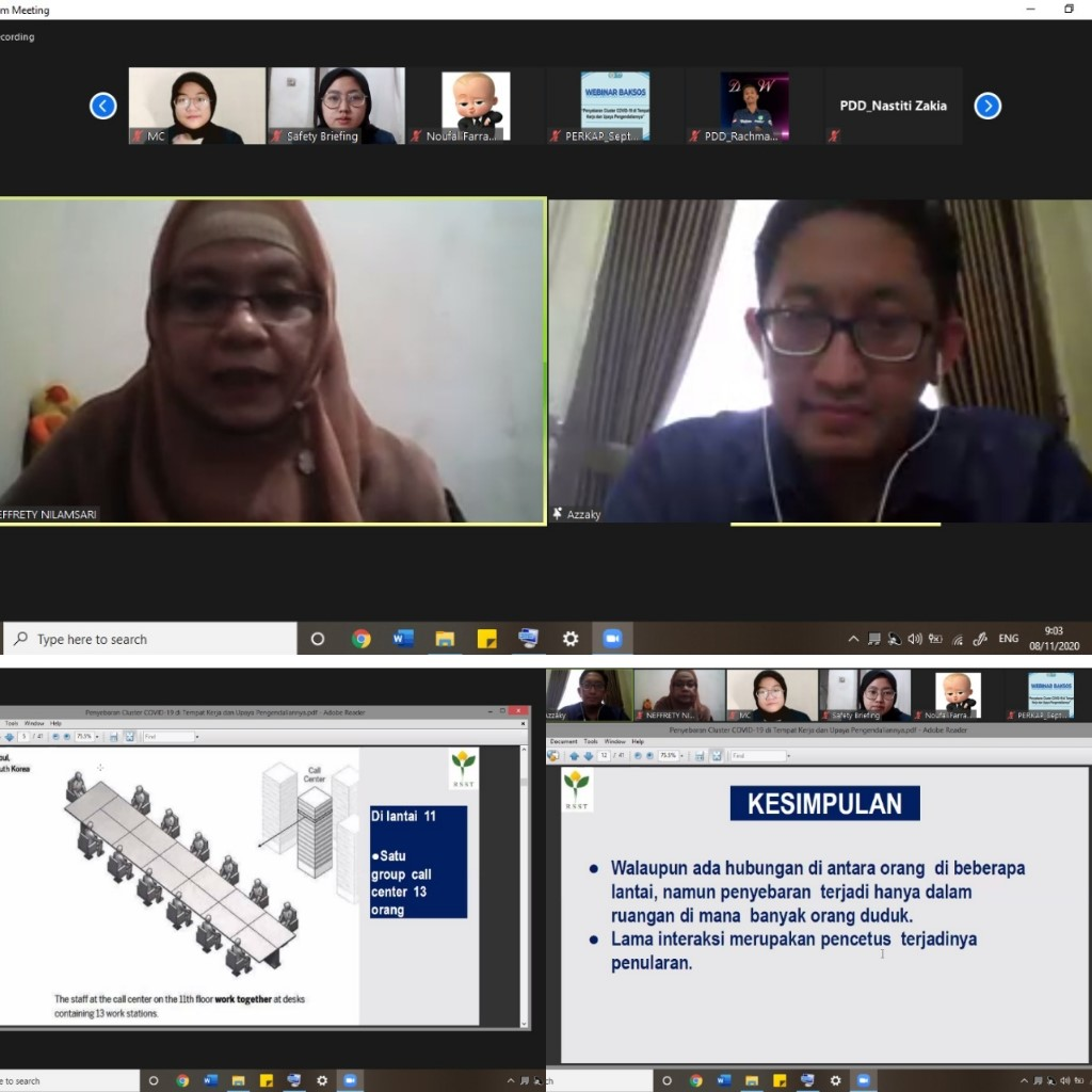 Webinar Nasional Bakti Sosial K3 Unair dalam Rangka Pencegahan Covid-19 di Tempat Kerja