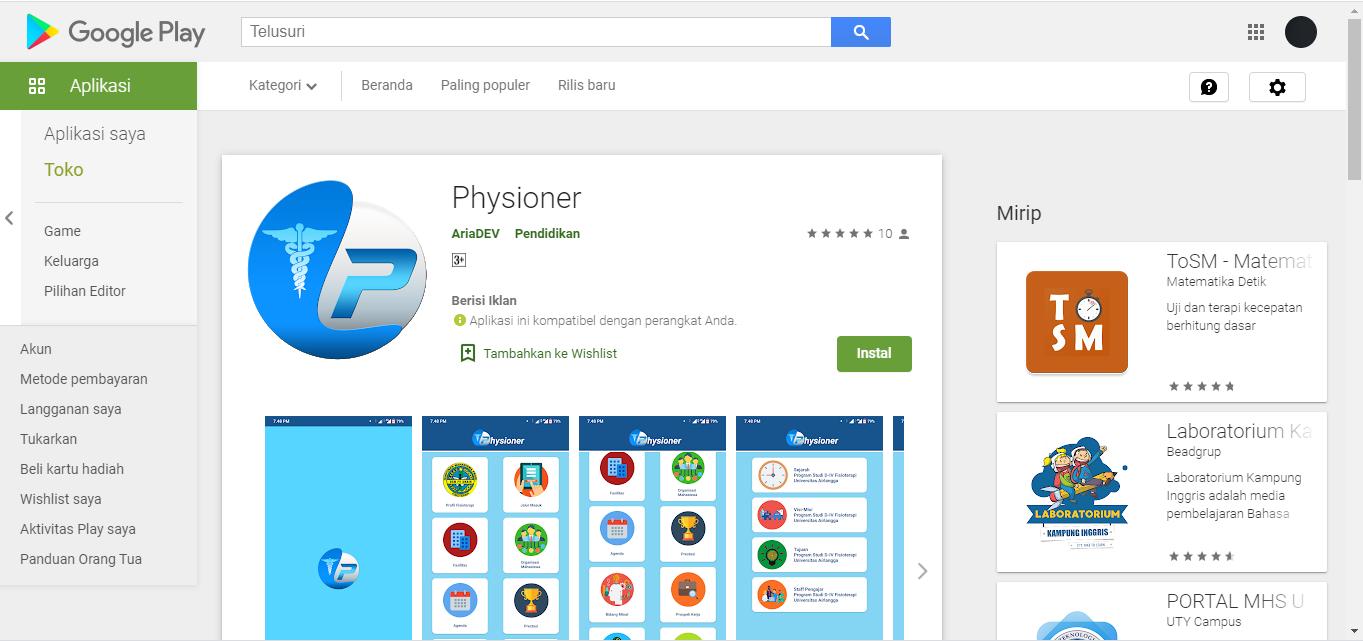 Physioner : Aplikasi Mengenai Fisioterapi yang Wajib Kalian Download