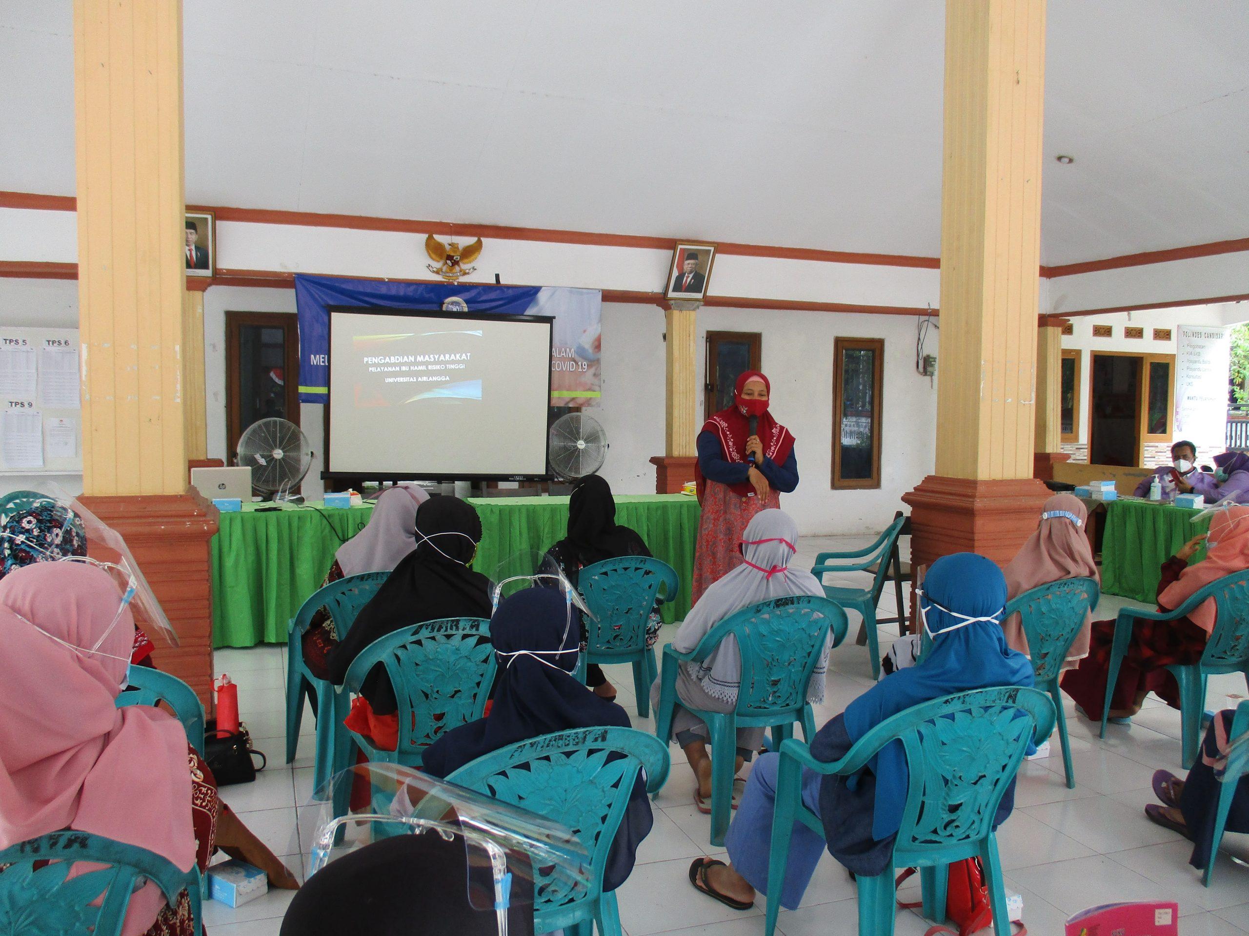 FKp dan Vokasi UNAIR Lakukan Pengabdian Masyarakat untuk Ibu Hamil Risiko Tinggi di Lamongan