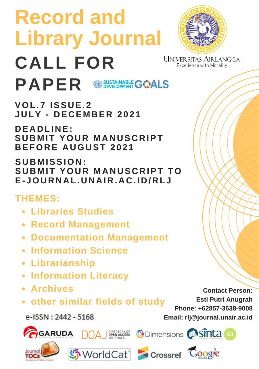 Record and Library Journal Call For Paper